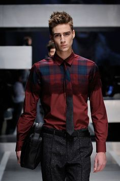 Fendi shirt :D  wgsn:    Degradé plaids were a major trend at #MFW as demonstrated here by@Fendi Huang