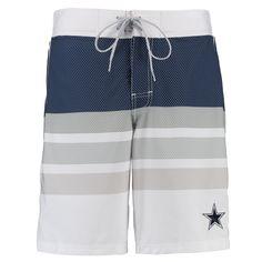 NFL Dallas Cowboys G-III Sports by Carl Banks Center Field Swim Trunks - White