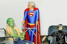 WORD VIRUS: Super heroes in an old age home