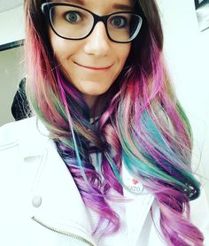 #pinkhair #bluehair #ombre #unicorn #mermaid