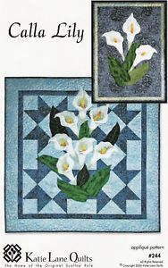 Calla Lily Pattern Free | CALLA LILY QUILT PATTERN - Patterns Gallery