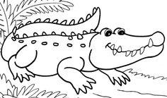 Coloring page - crocodile