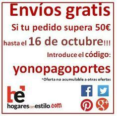 #yonopagoportes que no te tomen el pelo!!! Visita hogaresconestilo.com! #home #hogar #estilo #deco #decoracion