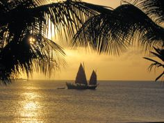 What is more romantic than a sunset dinner on the beach on a island paradise? Having Sunset Dinner on Samur in the bay of Kralendijk while dolphins may pass by and say hii..!!  http://ilovebonaire.com/bonaire/en/activities/sailing/samur