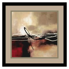 Symphony in Red and Khaki II Framed Wall Art by Laurie Maitland - DSW0118
