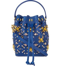 SOPHIE HULME Fleetwood small drawstring bucket bag (Blue