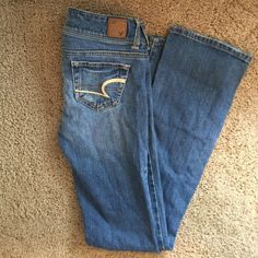 American eagle slim boot jeans size 00 Reg Jeans are in good condition American Eagle Outfitters Jeans Boot Cut
