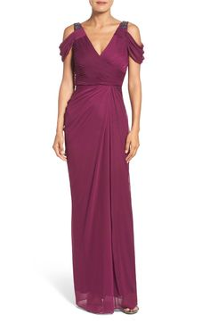Main Image - Adrianna Papell Cold Shoulder Gown