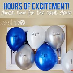 Hours of excitement! Almost time for the count down.