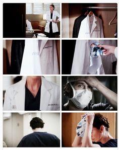 Grey's Anatomy. This broke my heart. Derek Shepard forever.