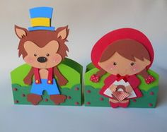 Centro de mesa Chapeuzinho Vermelho Red Riding Hood Party, Felt Ornaments, Scarlet, Ideas Para, Pikachu, Birthday Parties, Fictional Characters, Diy And Crafts, Three Little Pigs