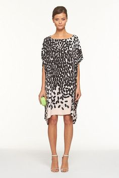 DVF... If only I could manage shoes this delicate. Love the dress.