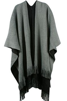 Women's Winter Knitted Cashmere Poncho Capes Shawl Cardigans Sweater Coat