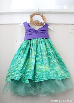 Little Mermaid Themed Birthday Dress  Ariel the Little Mermaid