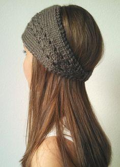 Knit Earwarmer Headband Headwrap – The ELLE -TAUPE – (more colors available) - Crochet Knit Headband Pattern, Knitted Headband, Knitted Hats, Lace Knitting, Knitting Patterns, Knit Crochet, Hat Patterns, Different Braids, Ear Warmer Headband