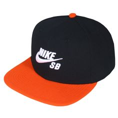 Boné Nike SB Icon Preto Laranja Snapback
