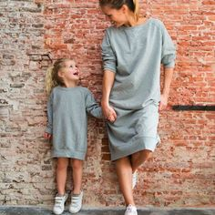 Gray Label Mother & Daughter dress 50 Gorgeous Casual Style Looks To Rock This Year – Gray Label Mother & Daughter dress Source Mother Daughter Outfits, Mommy And Me Outfits, Mom Daughter, Girl Outfits, Mother Daughters, Matching Outfits, Kids Wear, Baby Dress, Dress Girl