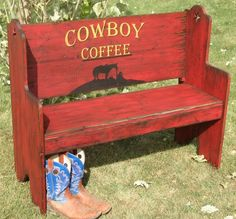 Santa Fe Style Bench Seat. Western Bench by WorkHorseFurniture, $349.00