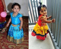 Cute Babies in Traditional Skirt - Indian Dresses