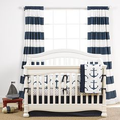Mix and Match Navy Baby Bedding | Baby Boy Bedding | Liz and Roo Fine Baby Bedding
