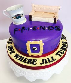 Friends Birthday Cake, Friends Cake, Themed Birthday Cakes, Friends Tv, Themed Cakes, 30th Birthday, Birthday Party Themes, Birthday Ideas, Cupcake Shops