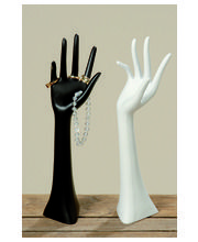 Boltze Käsi 34 cm musta/valkoinen koruteline