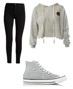 """Untitled #1"" by haileetaylor ❤ liked on Polyvore featuring Sans Souci and Converse"