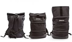 black negro backpack mochilla from betabrand made in the usa $80