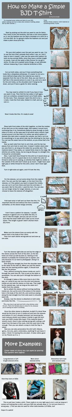 How to Make a Simple BJD T-Shirt by RodianAngel.deviantart.com on @deviantART