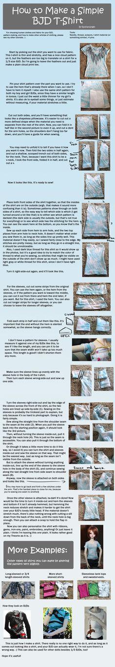 How to Make a Simple BJD T-Shirt by RodianAngel.deviantart.com on @deviantART