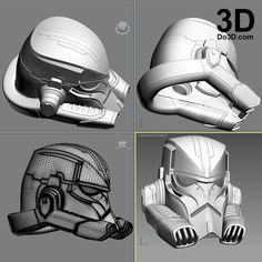 3D Printable Model: StormTrooper Variant Helmet Star Wars | Print File Formats: STL OBJ – Do3D.com
