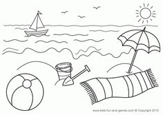 Summer coloring - beach, games, summer, coloring, pages free ...