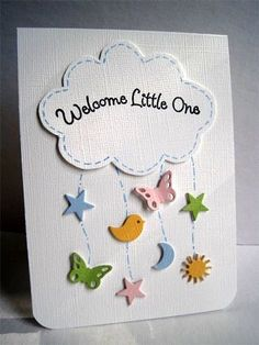 handmade baby card from Im in Haven: CAS-ual Fridays Sky . - handmade baby card from Im in Haven: CAS-ual Fridays Sky … stictched cloud with sentimen - Cricut Cards, Stampin Up Cards, Tarjetas Diy, New Baby Cards, Diy Cards Baby, Kids Cards, Boy Cards, Cute Cards, Creative Cards