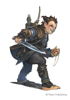 Halfling Filcher (Paizo, Pathfinder) by Florian Stitz https://www.artstation.com/artwork/DOyLO