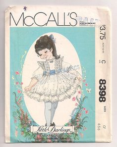 McCalls 8398 Little Darlings Dress and sash by FrazzledThreads, $6.00