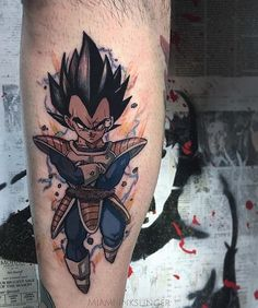 "4,529 Likes, 30 Comments - GAMERINK #1 in Gaming Tattoos (@gamer.ink) on Instagram: ""Vegeta tattoo done by @miami_inkslinger. To submit your work use the tag #gamerink And don't forget…"""