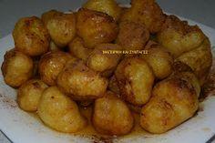 ΜΑΓΕΙΡΙΚΗ ΚΑΙ ΣΥΝΤΑΓΕΣ: Παραδοσιακοί απίθανοι λουκουμάδες με πατάτα !!! Potatoes, Vegetables, Food, Potato, Essen, Vegetable Recipes, Meals, Yemek, Veggies