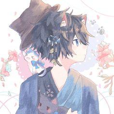 Mafumafu X Soraru - Mafumafu X Soraru Hot Anime Boy, Cute Anime Guys, Anime Boys, Anime Neko, Manga Anime, Anime Art, Neko Boy, Anime Angel, Anime Style
