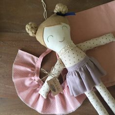 Custom made doll skirt to suit Alice & Billy by AliceandBilly fabric doll - toys - children - cloth doll