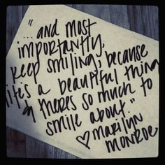 Wise words from Marilyn Monroe! Love Me Quotes, Cute Quotes, Quotes To Live By, Inspire Quotes, Love Words, Beautiful Words, Favorite Quotes, Best Quotes, Monroe Quotes