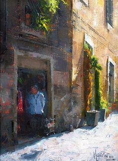 Shopkeeper by Jennifer McChristian Oil ~ 12 x 9