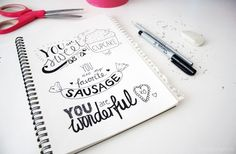 Getting Started with Handletting (with Pinterest) - And Free Handlettering Printables for Valentine's Day (via Bloglovin.com )