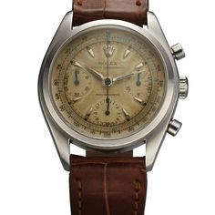 """ROLEX REF. 6034 """"PRE-DAYTONA"""" STEEL Rolex, """"Oyster Chronograph, Anti-Magnetic,"""" case No. 907678, Ref. 6034. Made in 1962."""