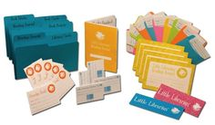 Little Librarian Set -- Organizing, sharing, borrowing, and returning - just like a real librarian!