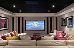 Basement 'cine sanctuary' © Hill House Interiors