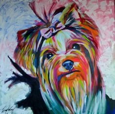 Diamond Painting Abstract Colored Yorkie Kit Offered by Bonanza Marketplace. Diamond Painting Abstract Colored Yorkie Kit Offered by Bonanza Marketplace. Yorkshire Terriers, Yorkshire Dog, Puppy Crafts, Acrylic Artwork, Painting Abstract, Cute Animal Photos, 5d Diamond Painting, Dog Tattoos, Animal Paintings