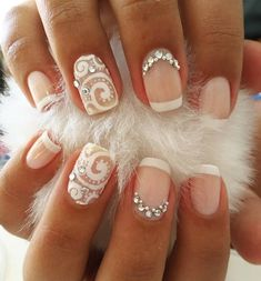 A regular, classic French manicure is no longer so interesting, but its variations in terms of color and ornaments are very popular.