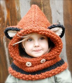 We have a fox hooded cowl crochet pattern free for you to try. You'll also love the video tutorial . Check out the Knitted Fox Cowl too. Cute Crochet, Crochet Crafts, Yarn Crafts, Knit Crochet, Crochet Winter, Diy Crafts, Tunisian Crochet, Crochet Christmas, Crochet Flower