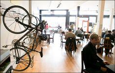 Bike racks should be everywhere! On every corner, in every cafe. EVERYWHERE. More bike parking=more biking=less driving=better environment. WHoot.