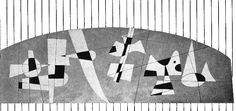 Diseño mural para los Almacenes de las Aduanas de Pantaco, por Carlos Mérida, av. Ferrocarril Central, col. Cosmopolita, Azcapotzalco, México DF 1952  Arqs. Félix Candela y Carlos Recamier -   Design for murals at the Customs warehouses Pantaco by Carlos Merida, Ave. Ferrocarril Central, Col. Cosmpolita, Atzcapotzalco, Mexico CIty 1952